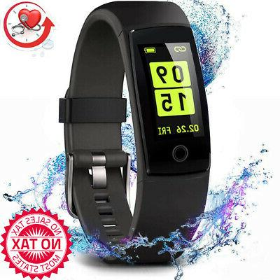 fitness tracker activity with heart rate blood
