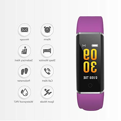 AUSUN Color with Connected GPS Step Sleep Stopwatch, Waterproof Activity Exercise Watch for Women Men Kids