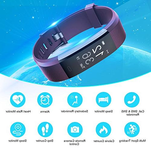 Letsfit Activity Heart Water with Calorie Counter Pedometer Watch Android iOS