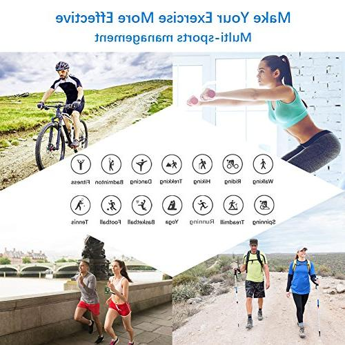 LETSCOM Fitness Activity Heart Rate Waterproof Counter, Watch Kids Women and Men