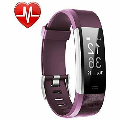 LETSCOM Fitness Activity Tracker Heart Smart Bracelet with Counter, Calorie Counter, Watch and Men