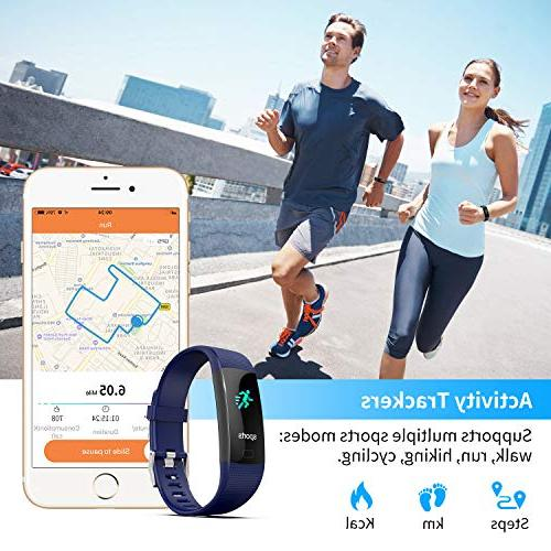 Activity Tracker with Heart Monitor, IP67 Waterproof Step for Women, Men,