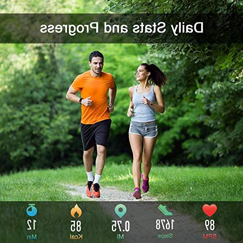 Letsfit Fitness Color Screen Heart Rate Monitor Watch, Tracker Watch, Step Calorie Monitor, Pedometer Women Kids