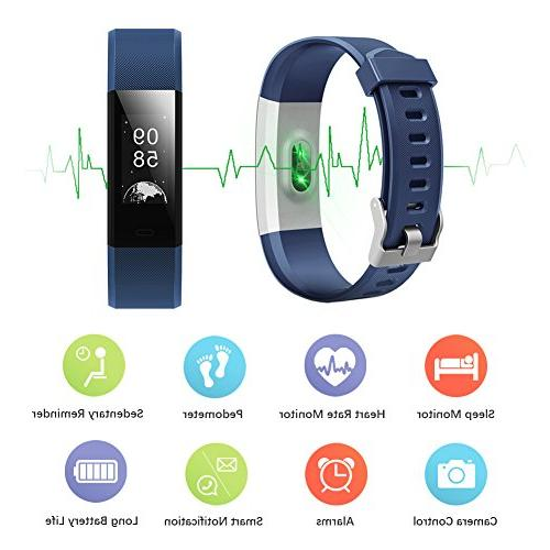 LETSCOM Heart IP67 Tracker Sleep Monitor, Smart for Women