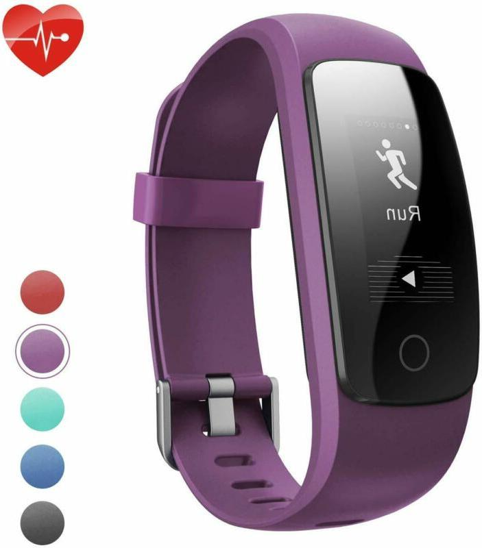 fitness tracker hr id107plus pedometer with heart