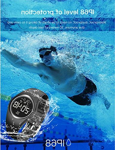feifuns Fitness Watch Non-Bluetooth Pedometer Smart Timer Distance Time/Date Vibration Alarm for Men