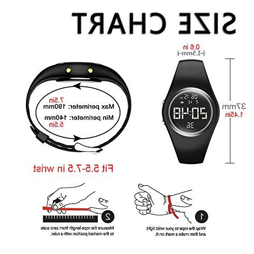 3D Non-Bluetooth Pedometer Watch Sport Wristband IP68 Water-resistant Accurately Walking Women