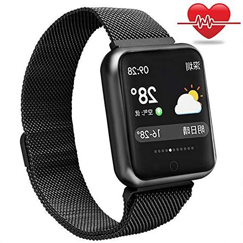fitness tracker steel band