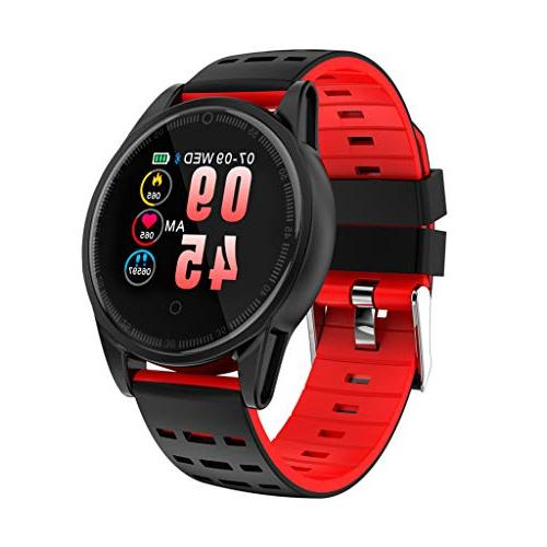 Fitness Watch with Silicone Kids Women Men Fitness Tracker Rate Monitor Step Wrist Smart