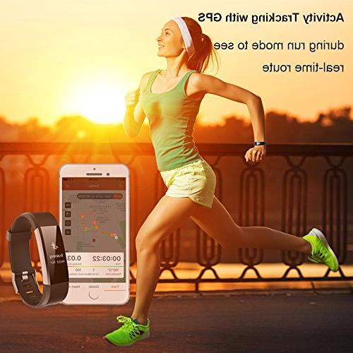 Fitness Tracker, Waterproof Tracker Bluetooth Smart Watch Wristband Sleep Monitor with Replacement Android and