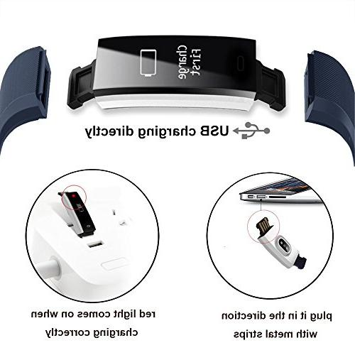 Fitness Tracker, Waterproof Tracker Bluetooth Smart Watch Wristband with Replacement Android