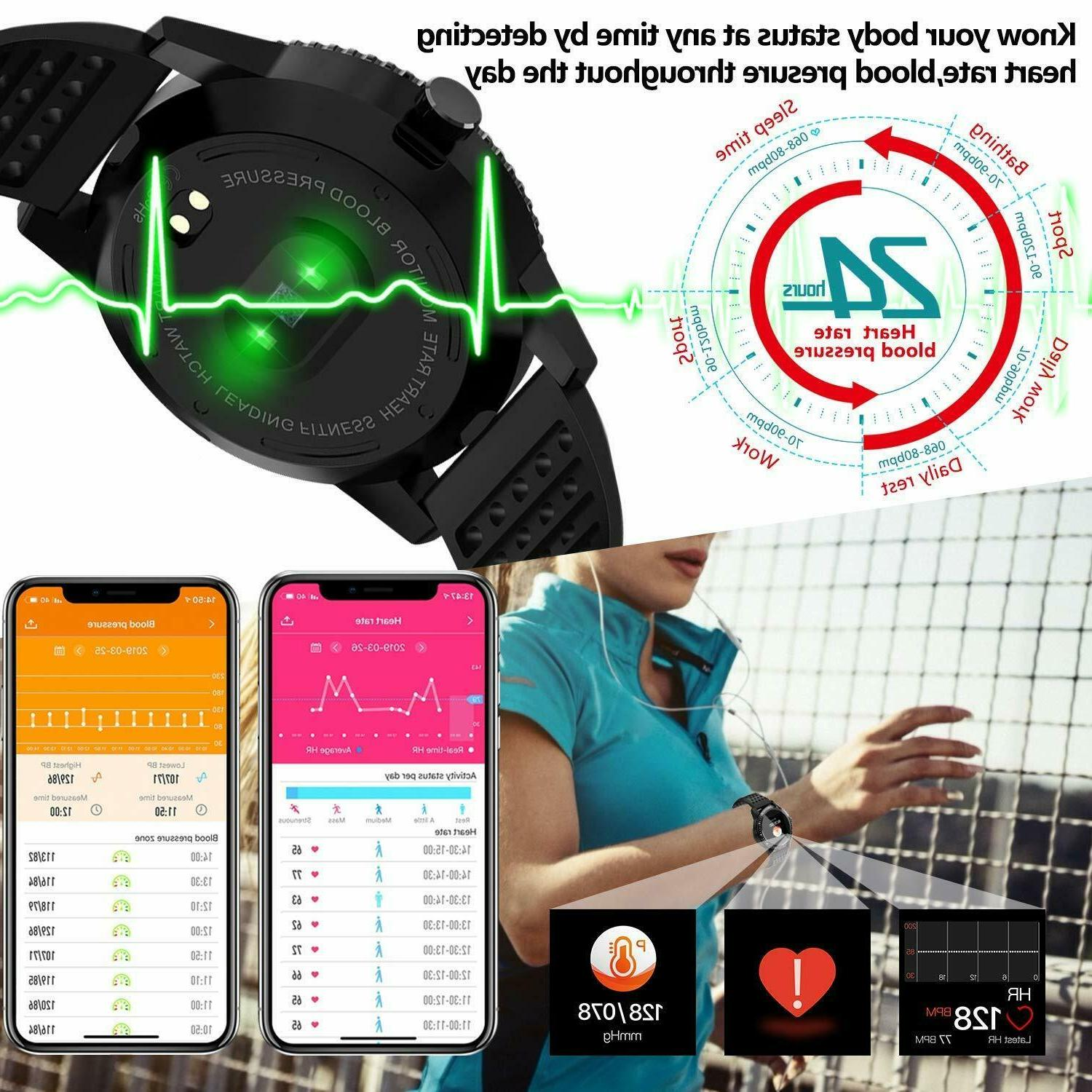 Fitness Tracker with Rate Pressure Activity Watch