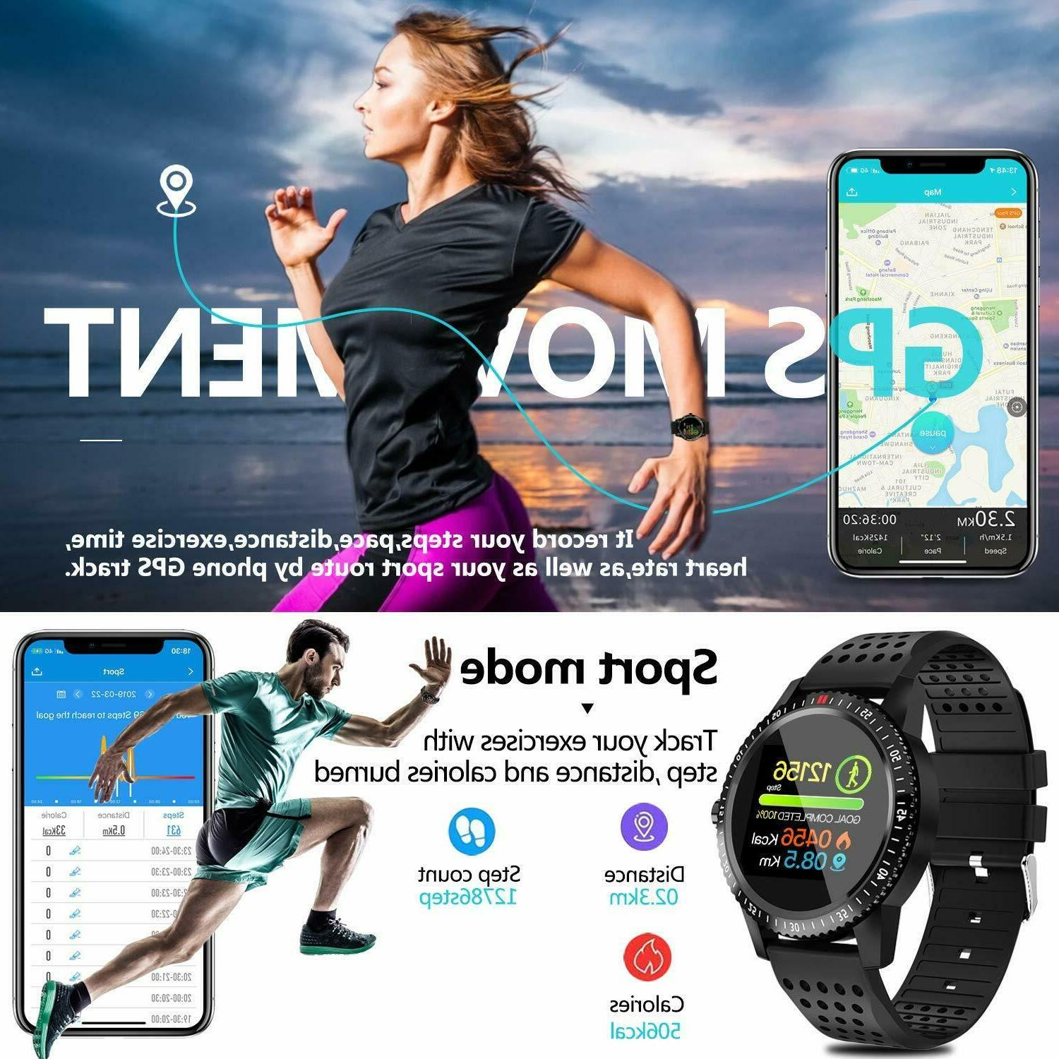 Fitness Tracker with Rate Blood Pressure Activity