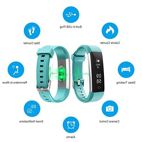 LETSCOM Heart Rate Monitor, Slim Waterproof Pedometer Watch with for and Men