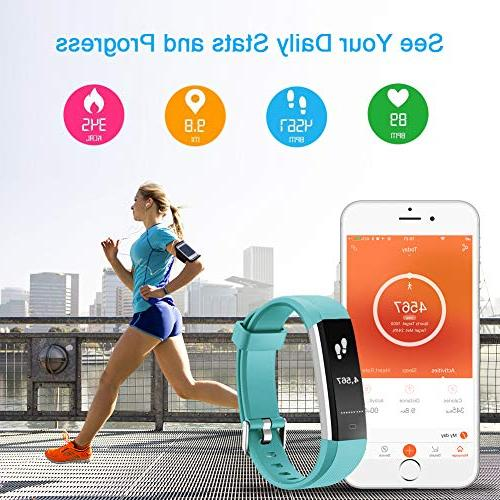 LETSCOM Heart Rate Sports Watch, Waterproof Pedometer Watch with Sleep Tracker for Kids, Men