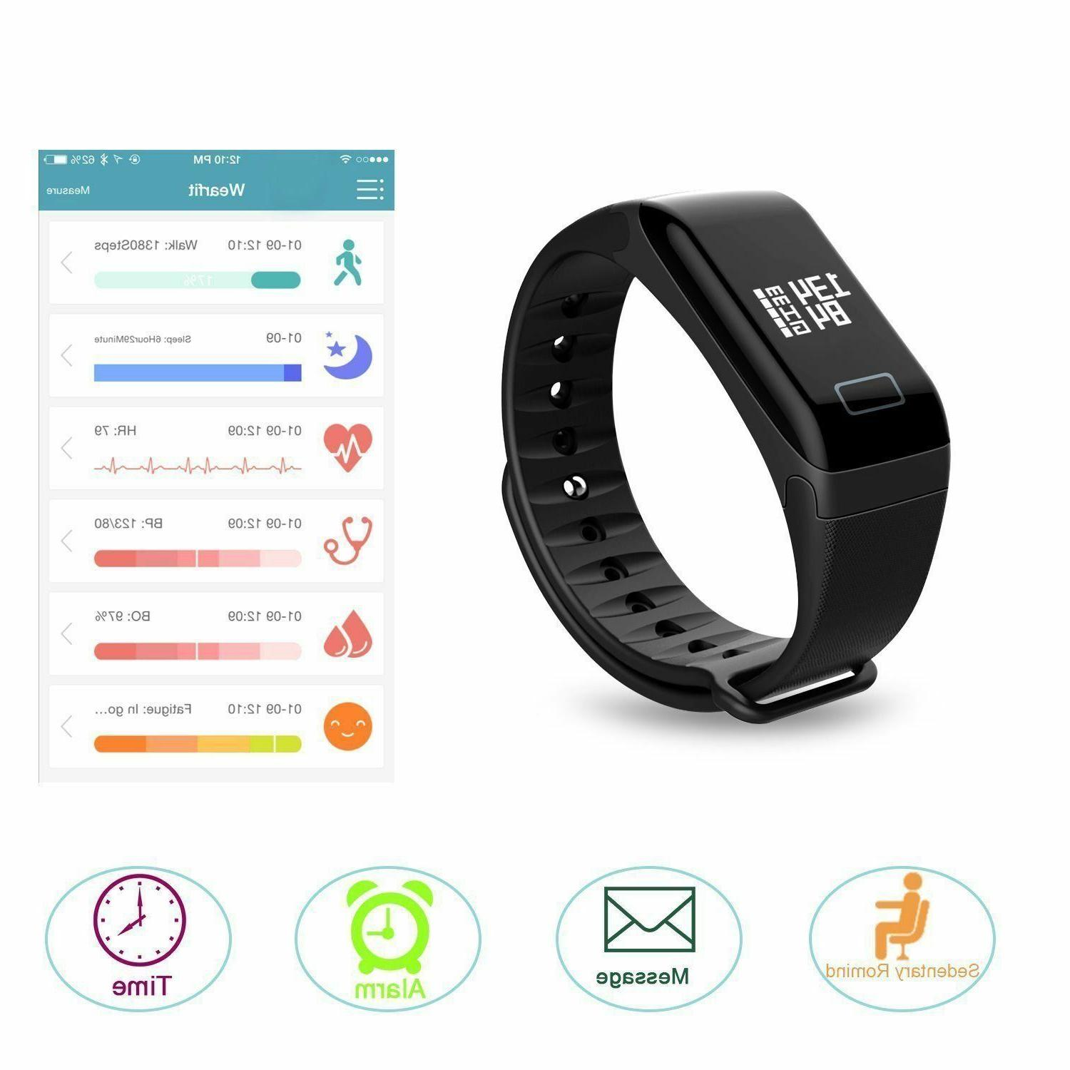 Fitness Trackers Bracelet Bluetooth Blood Activity Health