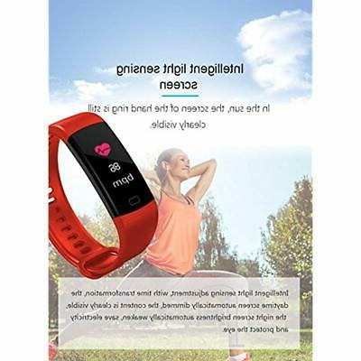 Fitness Trackers Blood Pressure Colorful Screen Activity