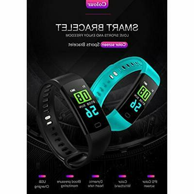 Fitness Tracker Blood Pressure Colorful Screen Activity