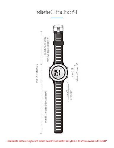 EZON Heart Rate Sports Watch with Chest Strap,Waterproof,Stopwatch,Hourly