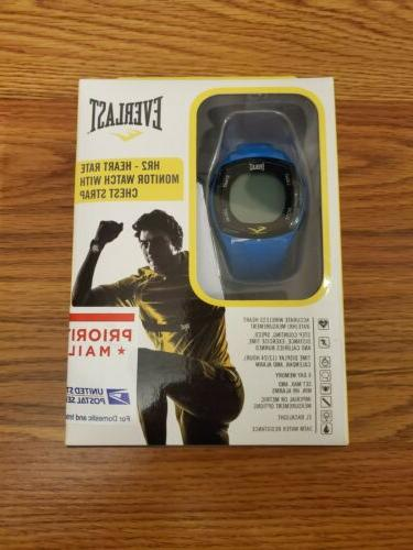 Everlast HR2 Heart Rate Monitor Watch with Chest Strap Trans