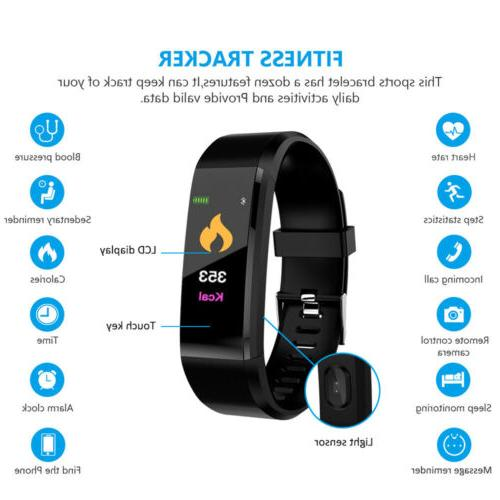 IP67 Bluetooth Fitness Activity Trackers Band Calorie Counter