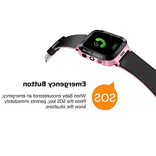 cjc Kids Smart Watch Phone, Tracker Safety Year Old Toys Pedometer Touch Screen Game Bracelet -