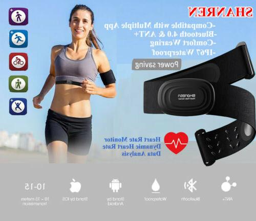 Heart Rate Monitor Sensor Transmitter Chest Strap Sports Ath