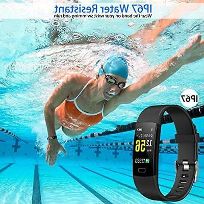 Pedometers Juboury Fitness HR, Watch Rate Monitor, Smart