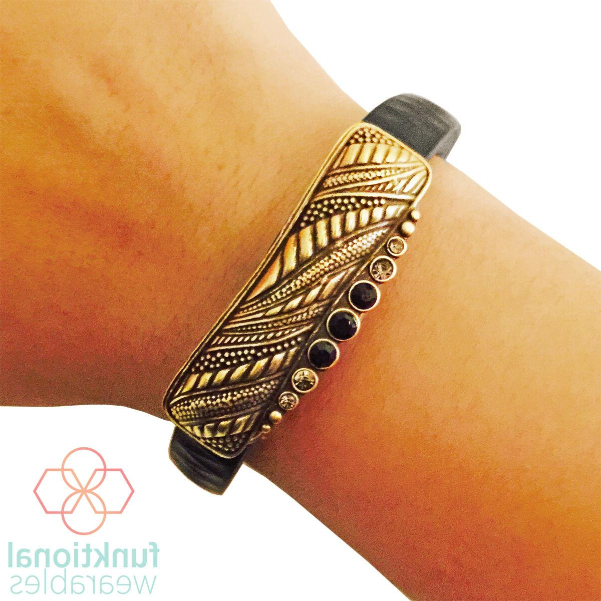 sale gold charm to accessorize fitbit or