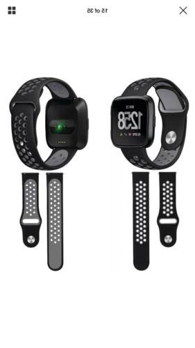 Silicone Sport Band Fitbit Tracker 3 Pack