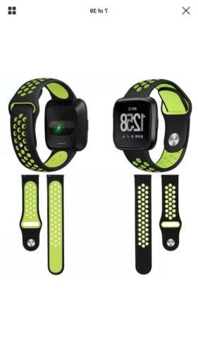 Silicone Sport Band Fitbit Versa Replacement Tracker ~ 3 Pack