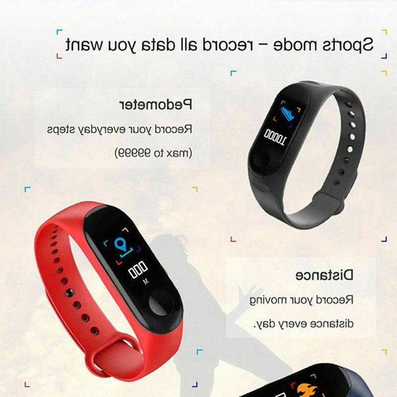 Smart Bracelet Wristband Tracker Pressure Heart