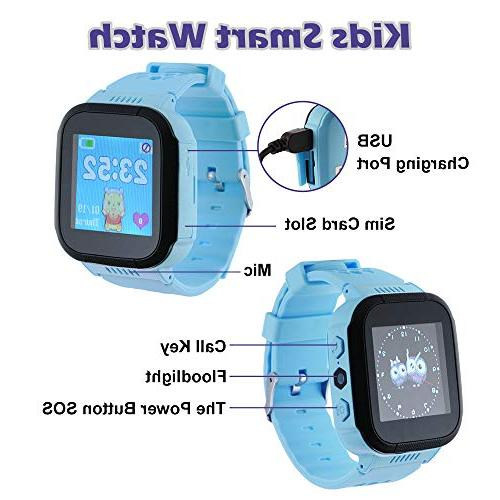 XCSOURCE Smart 1.44in Remote Monitoring SOS LBS Location Positioning Activity Tracker Kids Gift