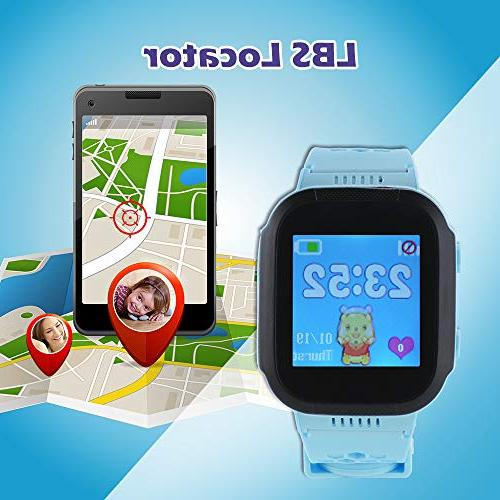 XCSOURCE 1.44in Q90 SOS Positioning Activity Tracker Kids Gift