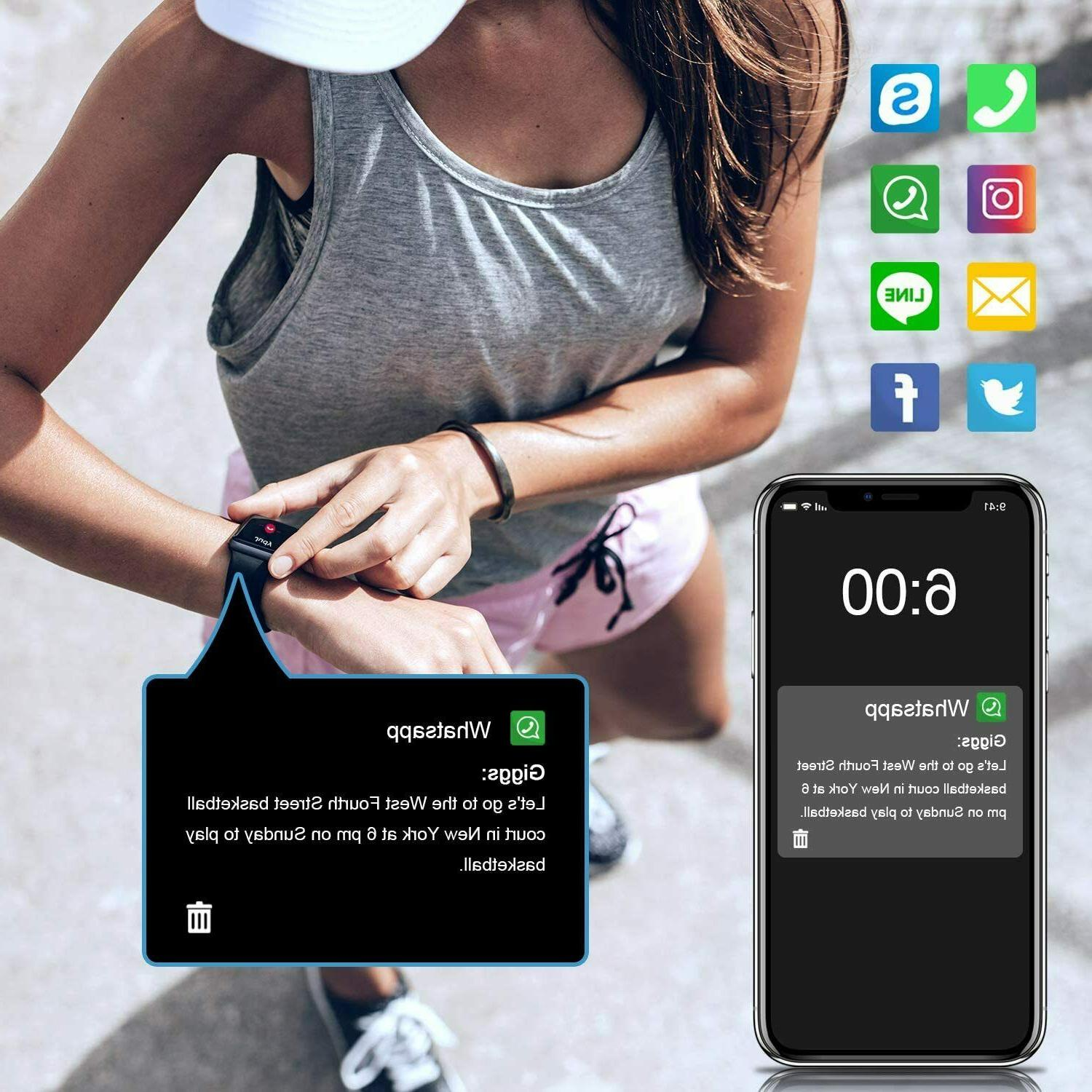Letsfit Smart Watch, Tracker with Heart Rate Activity Tracker with