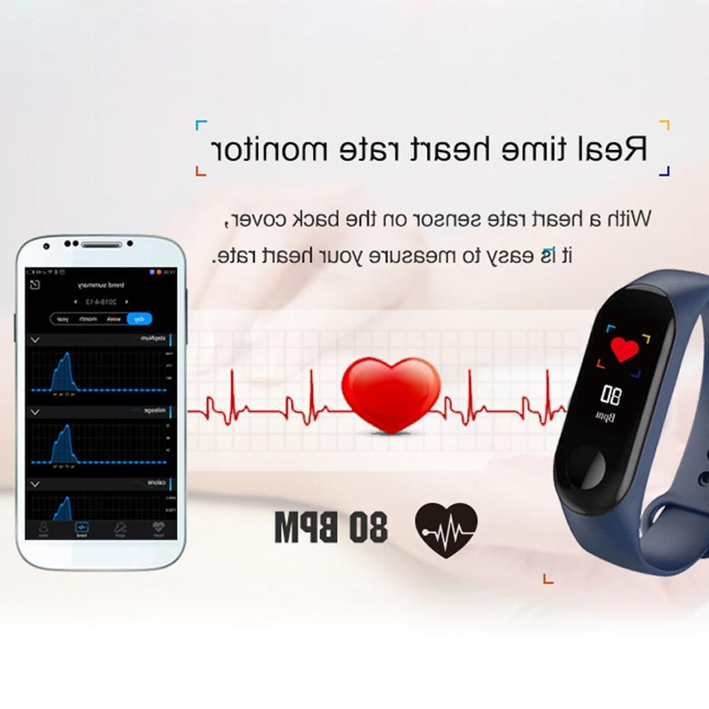 Sport <font><b>Fitness</b></font> <font><b>tracker</b></font> Smartband Bracelet Pressure Smart Men For iOS