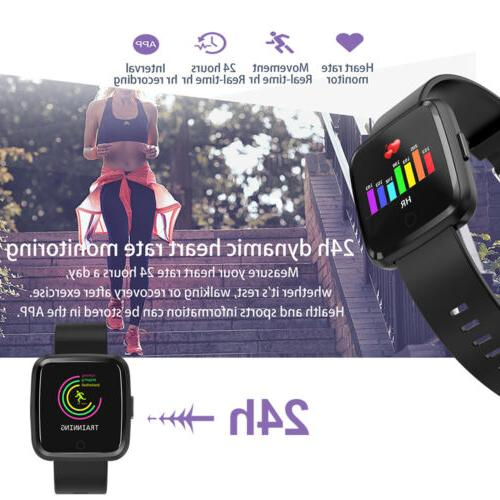 Water Resistant Sport Watch Blood Pressure Heart Rate Android