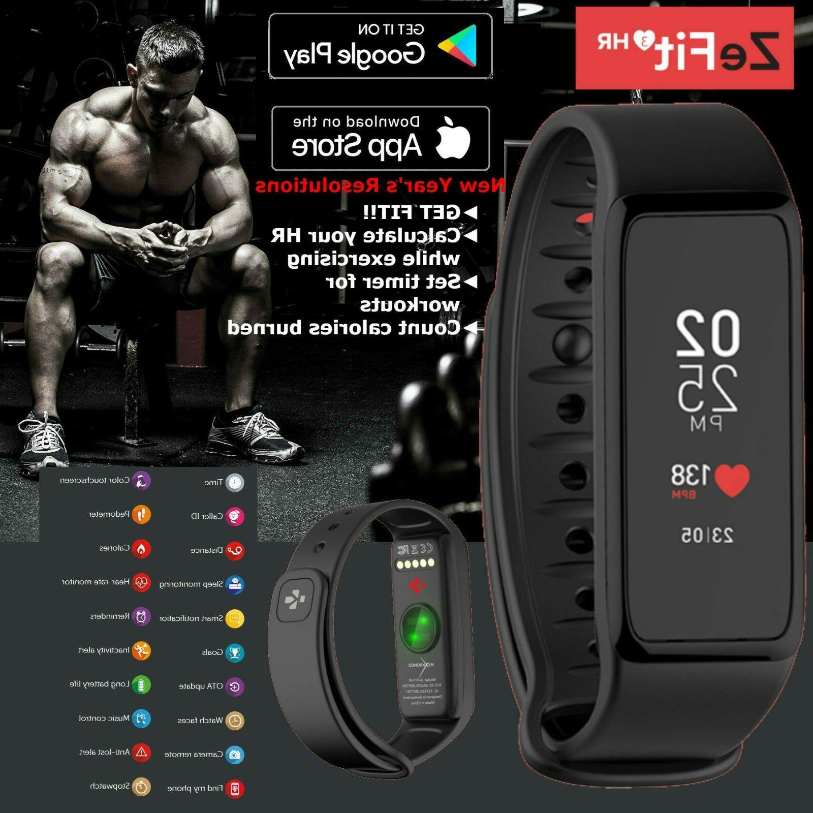 waterproof fitness activity tracker heart rate smart