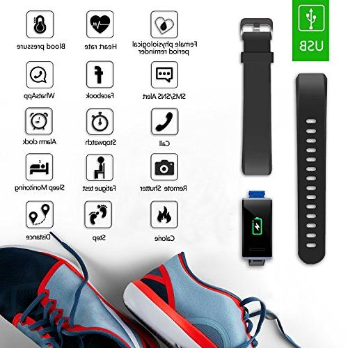 MorePro X-Core HR, Waterproof Activity Tracker Rate Blood with Blue