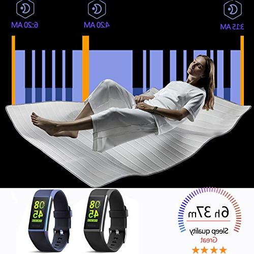 MorePro X-Core Fitness HR, Color Screen Activity Rate Blood Pressure Smart Wristband Blue
