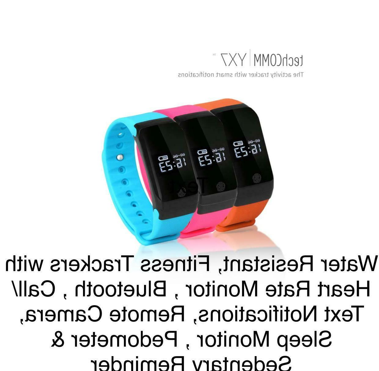 yx7 water resistant fitness tracker with heart