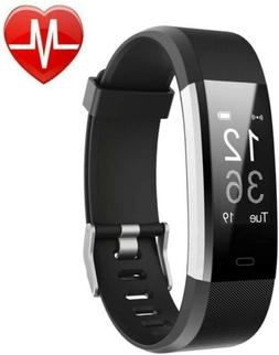 LETSCOM Fitness Activity Trackers Tracker HR, Watch With Hea