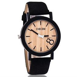 ⌚OWMEOT⌚ MEIBO Modeling Wooden Quartz Mens Watch Casual