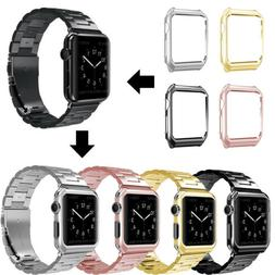 New Apple Watch Series 3/2/1 Stainless Steel Wrist iWatch Ba