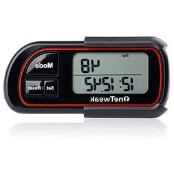New OneTweak EZ-1 Pedometer for Walking. 3D Tri-Axis Clip-On