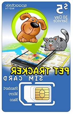 $5 PET Tracker SIM Card | 3in1-2G 3G 4G LTE | for Dog/CAT Tr