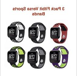 Silicone Sport Band for Fitbit Versa Replacement  Activity T