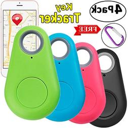 4 Pack Smart GPS Tracker Key Finder Locator Wireless Anti Lo