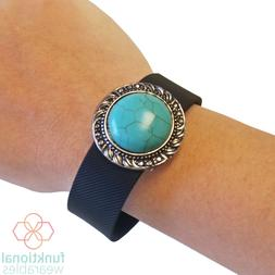Turquoise Charm to Accessorize Fitbit Flex, Charge, Most Oth