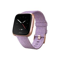 Fitbit Versa Special Edition Smart Watch, Lavender Woven, On